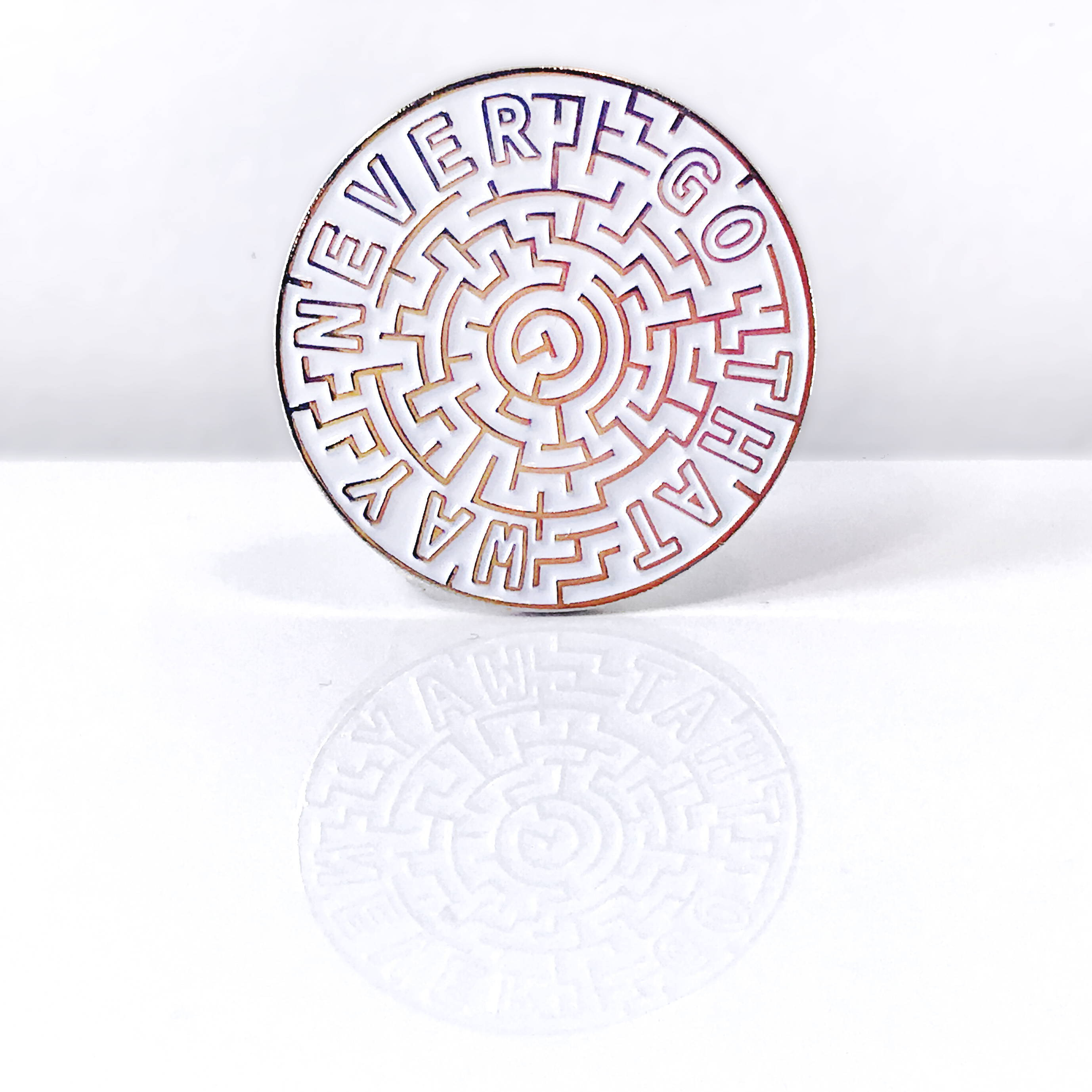 Labyrinth Never Go That Way Pin