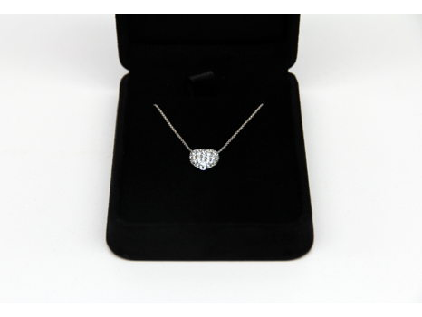 Diamond Heart Necklace by Shelly Kaufman
