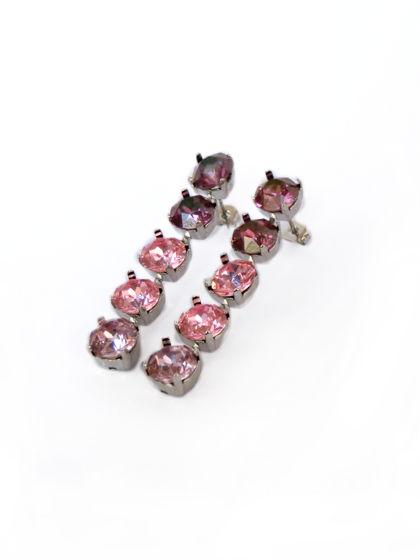 Серьги с кристаллами Swarovski Лиловые