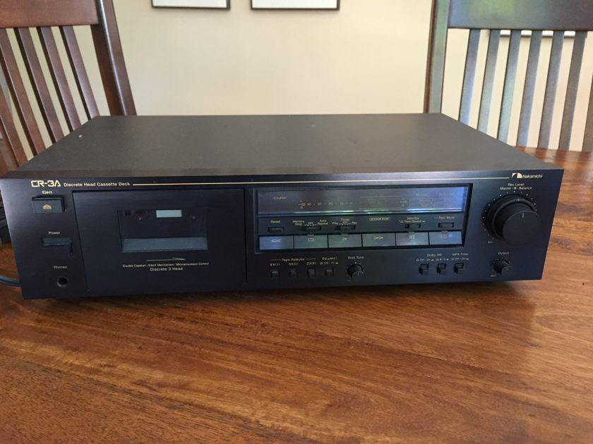 Nakamichi CR-3A 3 head tape deck and Nakamichi head demagnetizer