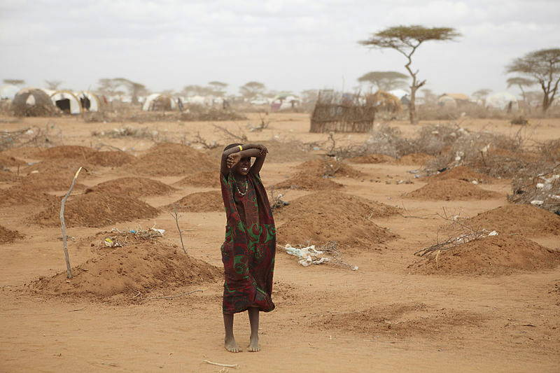 A mass grave for children in Dadaab during the 2011 East Africa drought.