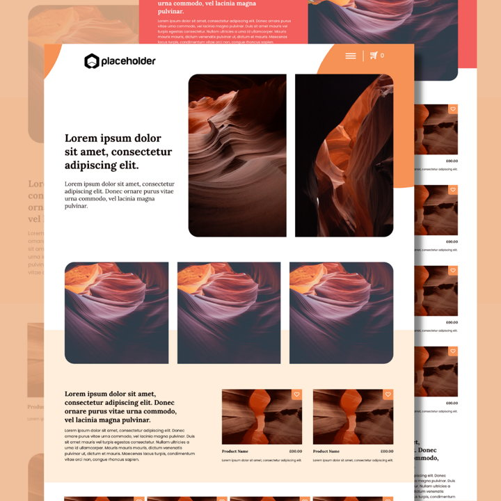 Sandstone template's featured image