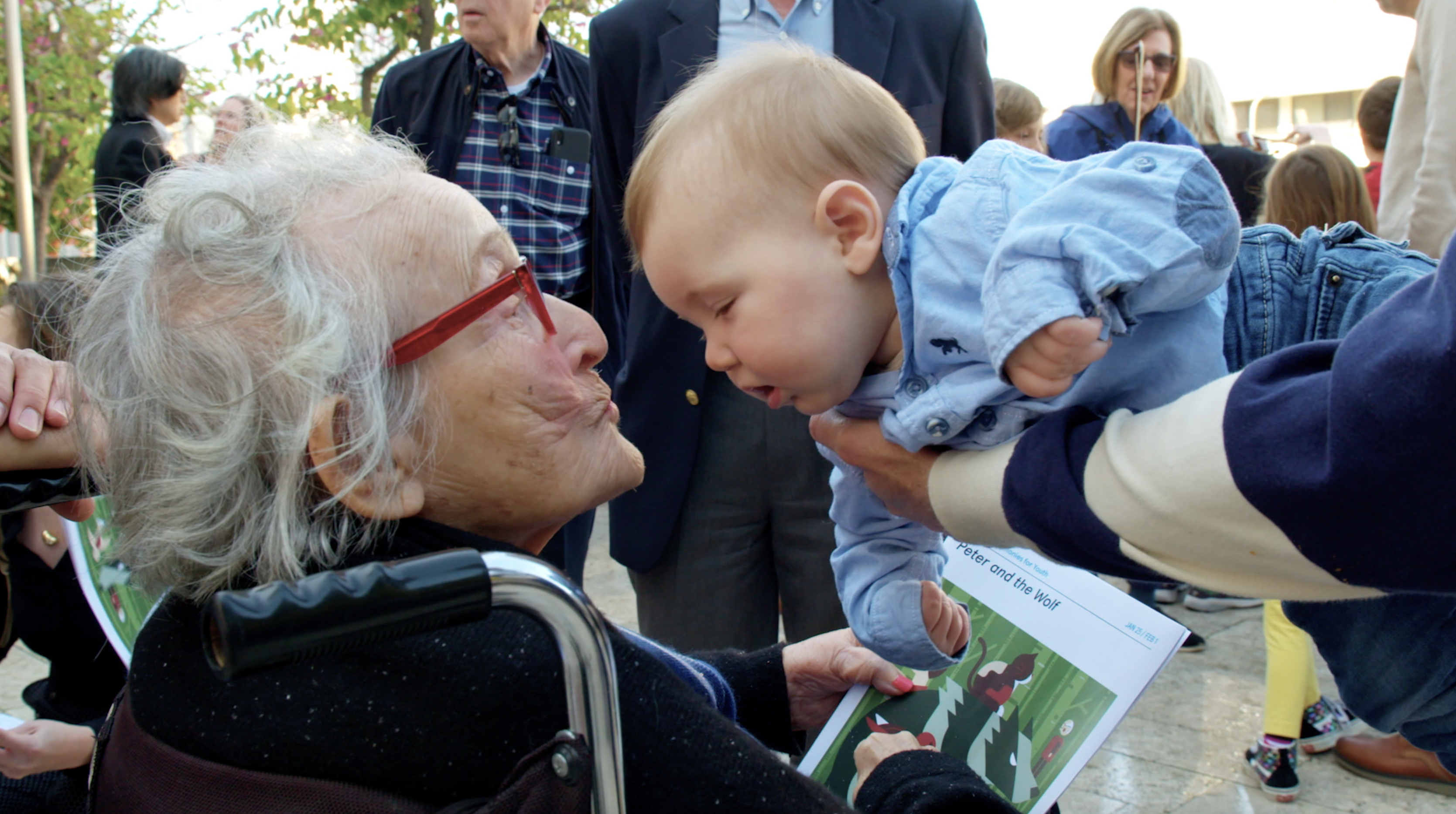 Trudy with one of her 20 great-grandchildren.