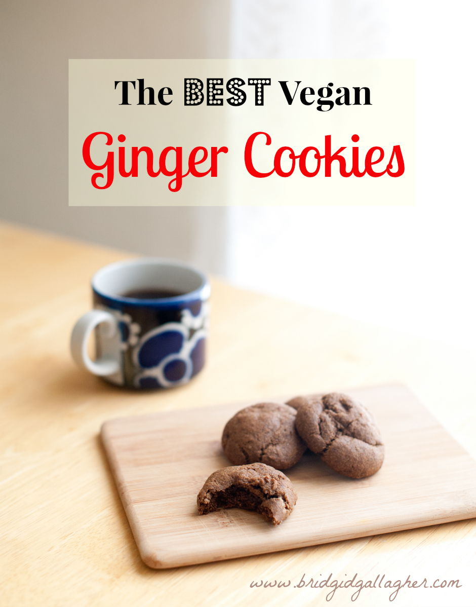 Soft Vegan Ginger Cookies Recipe, www.bridgidgallagher.com