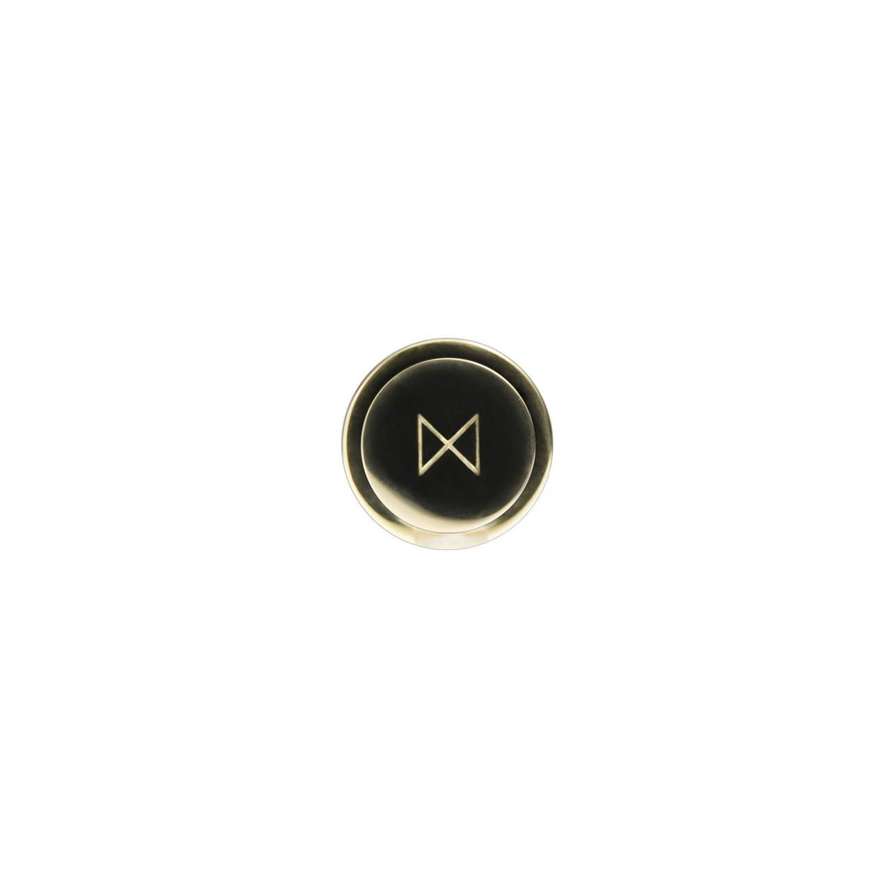 Brass Cufflink bottom face with monogram