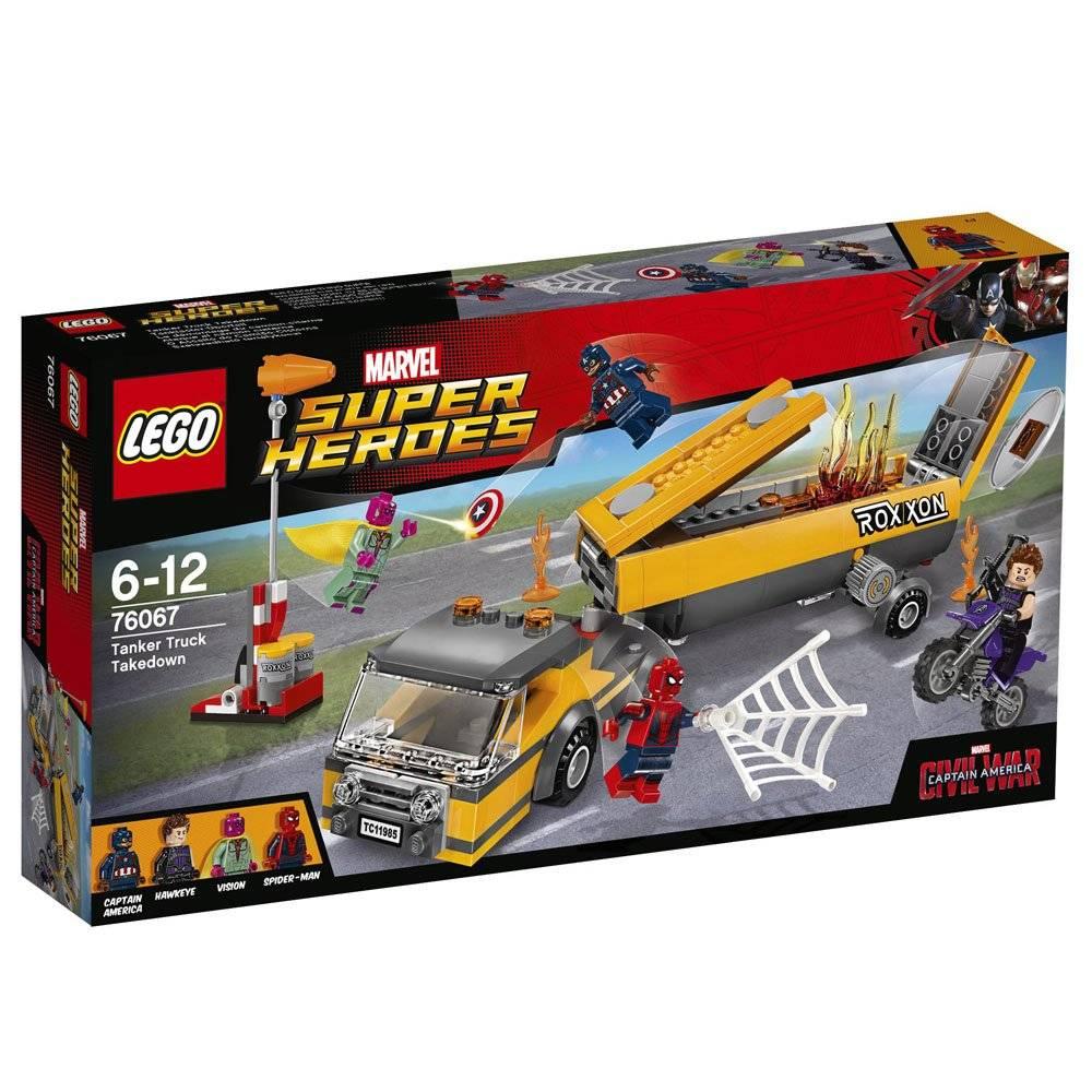 LEGO tanker truck takedown