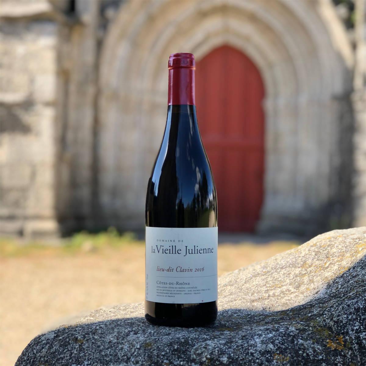 vin, rhône, la vieille julienne, lieu dit clavin, chateauneuf du pape, raw wine, vin nature, naturel, vin naturel, vin blanc, vin rouge, organic wine, vin bio