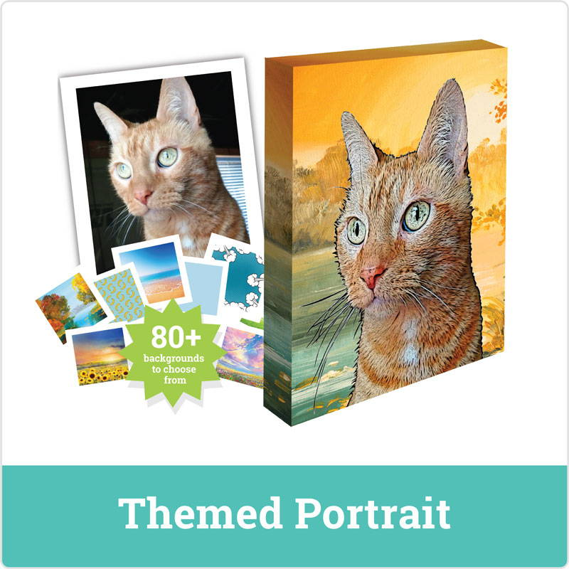 cat portrait - themed