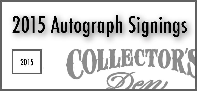 2015 Autograph Signings
