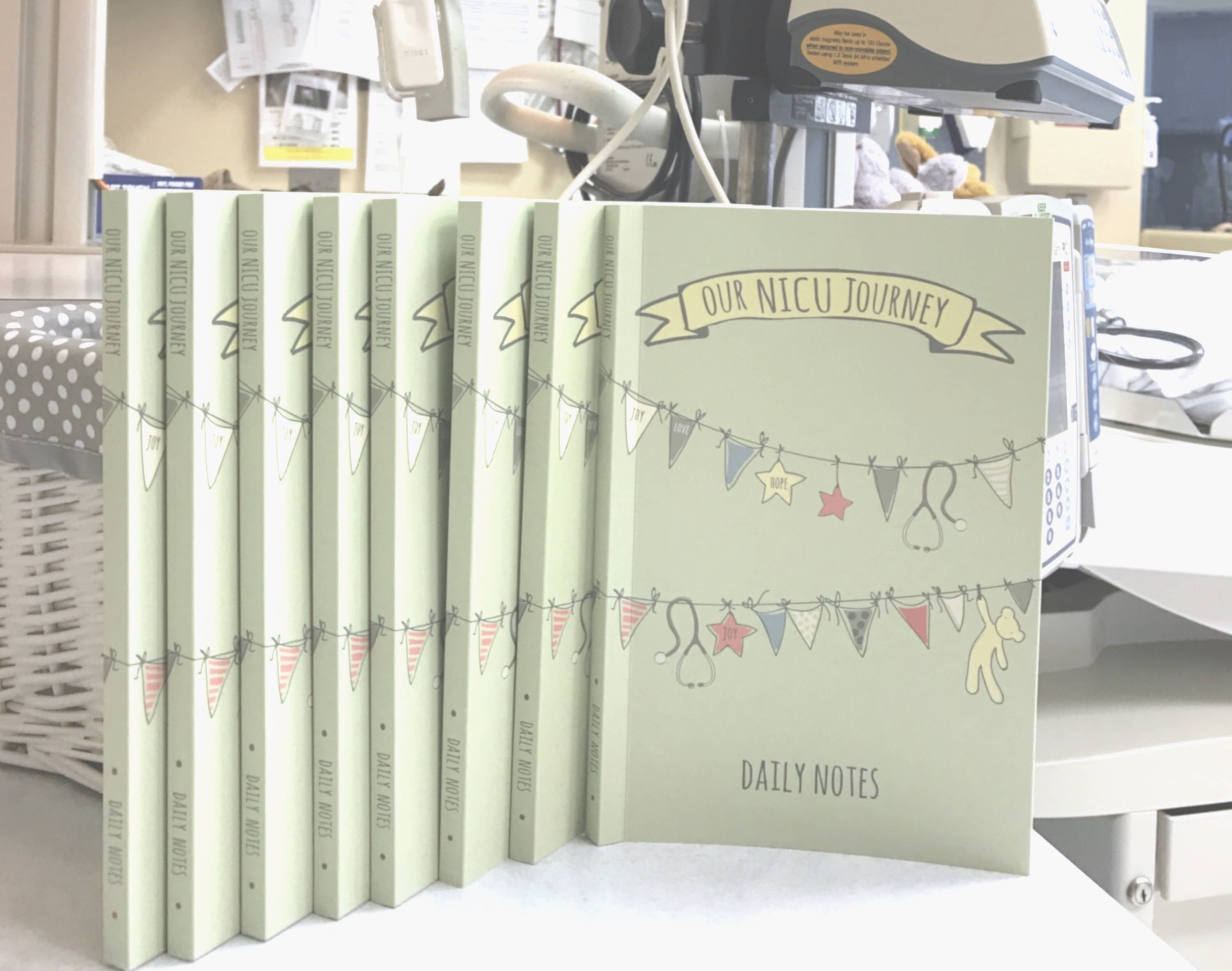 Bulk NICU Journals at hospital bedside Our NICU Journey