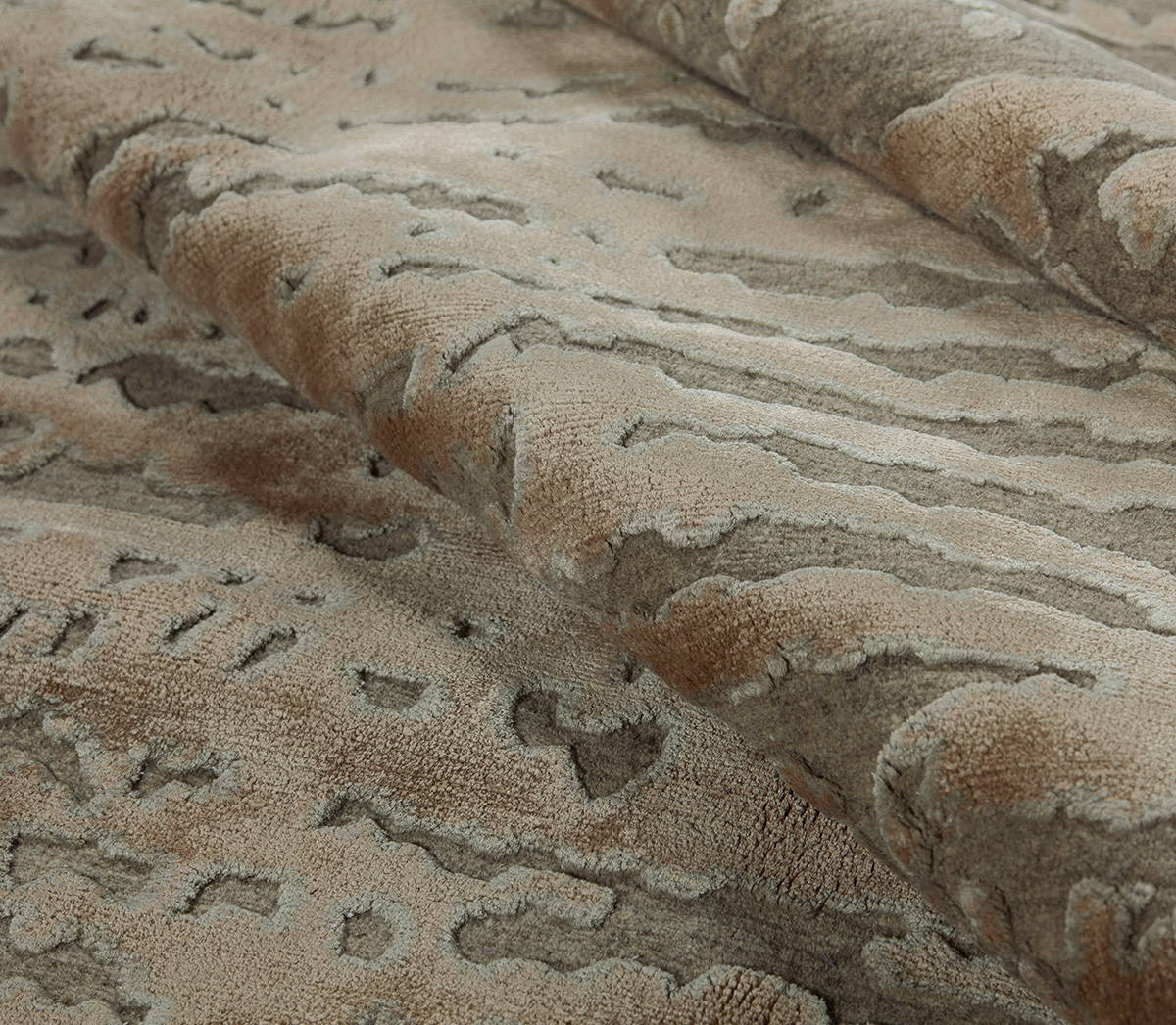 Streets of Paris Walnut Custom is a brown hand knotted rug by Tufenkian