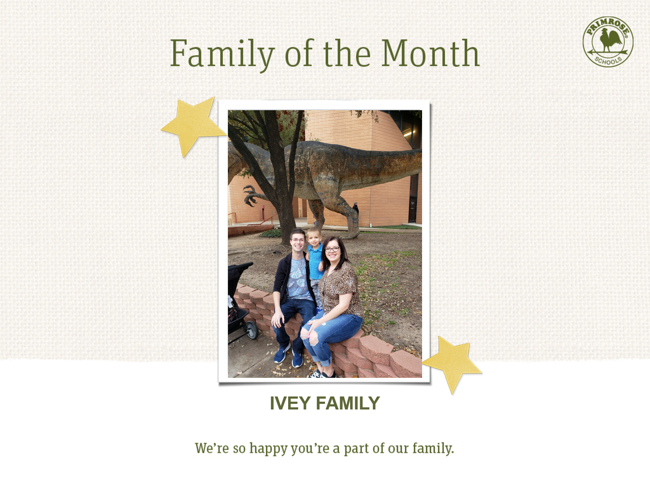 Ivey Family of the Month
