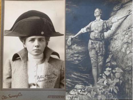 Rare Maude Adams Signed Photos from Peter Pan Original 1905 Broadway Production