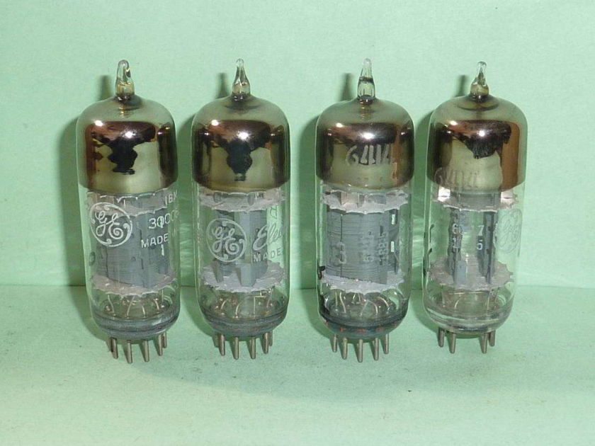GE 6414 12AT7 E180CC Triple Mica Tubes, Matched Quad, Tested - Manley