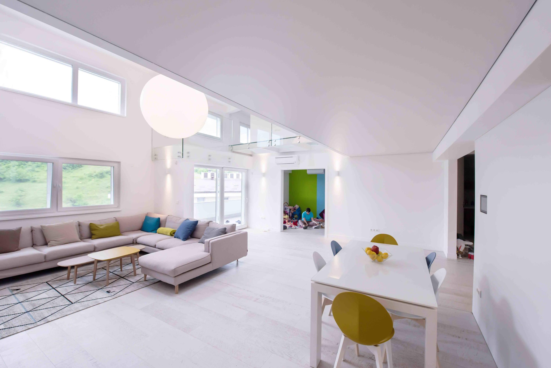 White futuristic kitchen