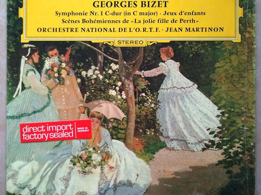 "DG/Jean Martinon/Bizet - Symphony No.1 in C major, Jeux d'enfants (Children's Games), Scenes Bohemiennes de ""La Jolie fille de Perth"" / NM"