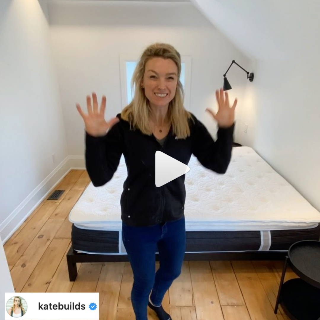 Kate Builds Unboxing Haven Mattress On Instagram