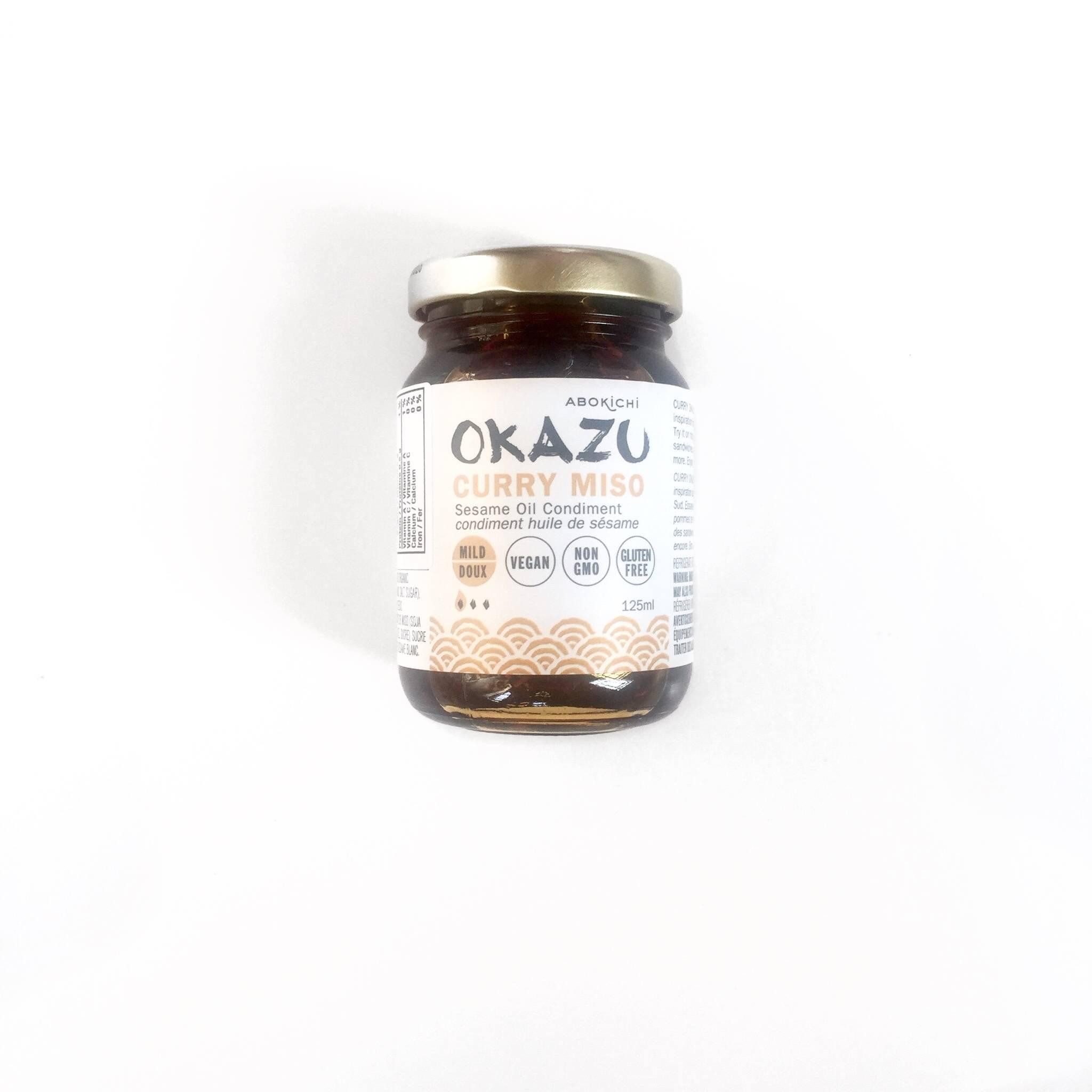 abokichi okazu miso condiment huile de sesame curry chili