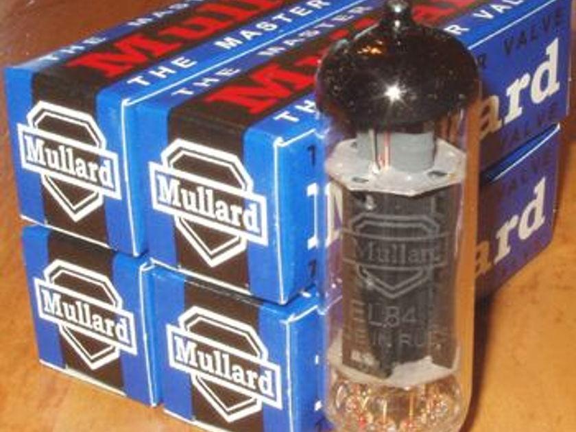 Mullard Matched Quad EL84 / 6BQ5 reissue tubes, new !