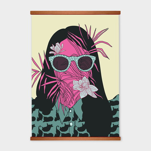 Постер «Портрет с цветами» от Oh So Me (серия Home)