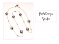 Crystal Gold & Metal Necklace from Posh Design Studio