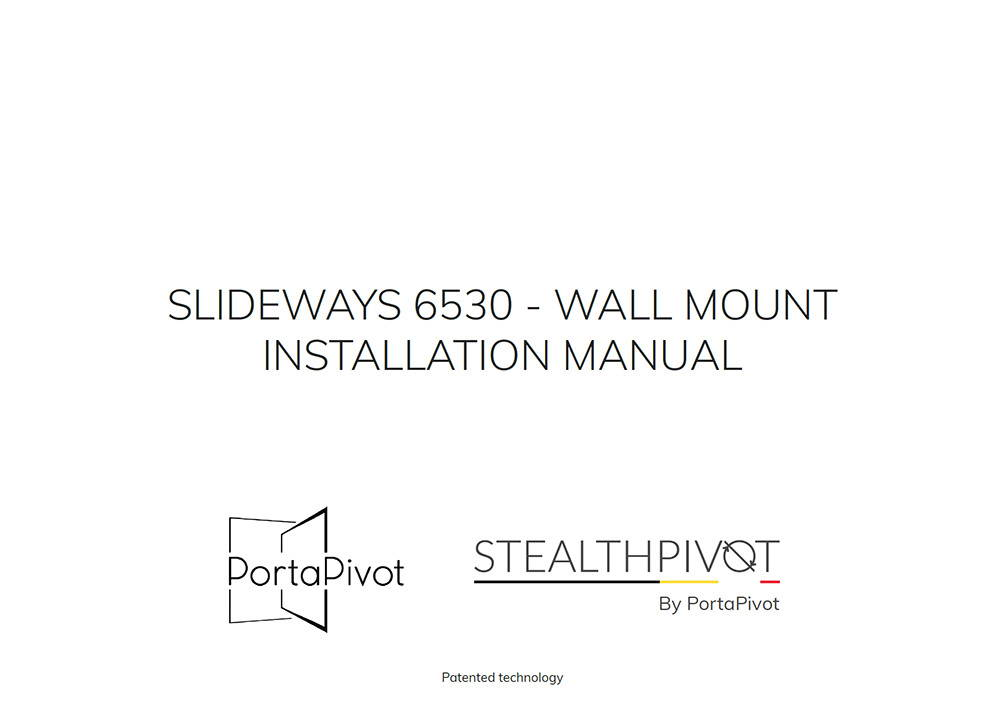 Slideways 6530 wall mount installation manual