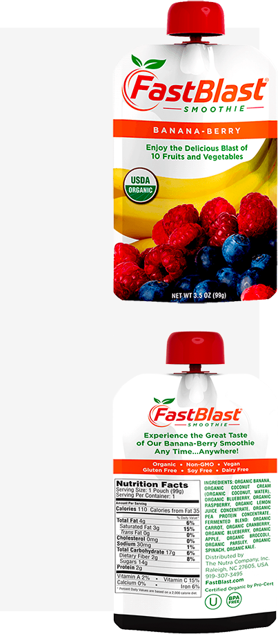 fastblast banana-berry smoothies
