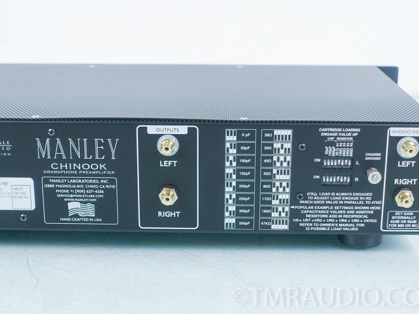 Manley Chinook Phono Preamplifier;  Upscale Audio Special Edition (9051)
