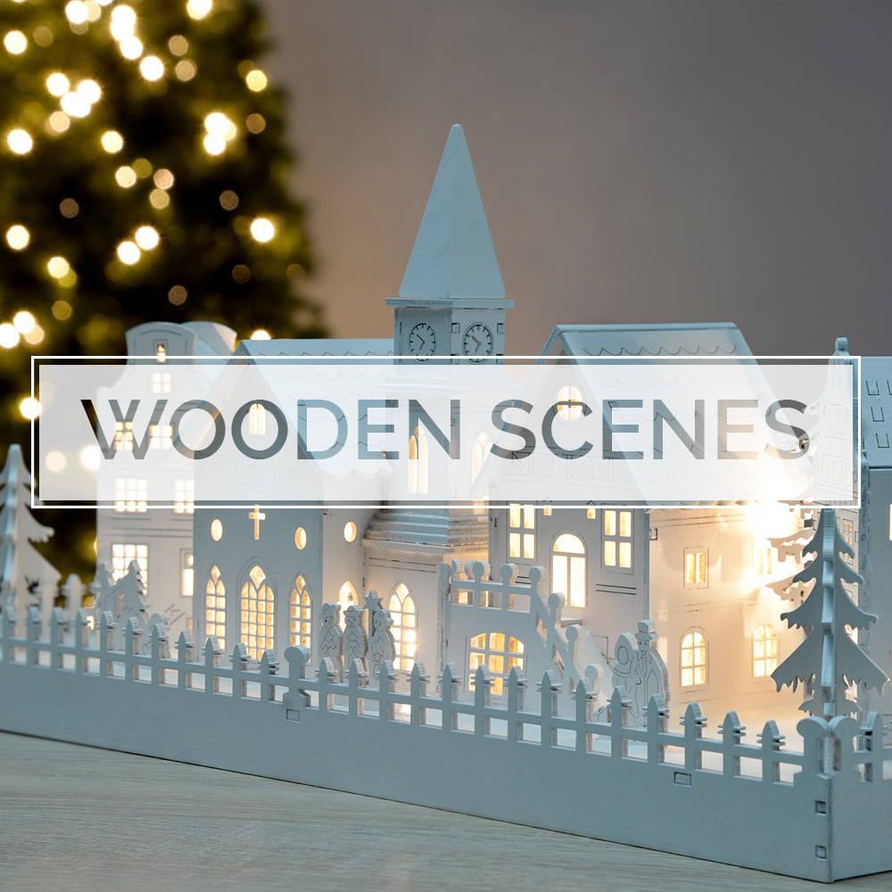 Wooden Village Scenes