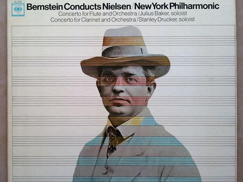 COLUMBIA 2-EYE   BERNSTEIN/NIELSEN - Concerto for Flute, Concerto for Clarinet / NM
