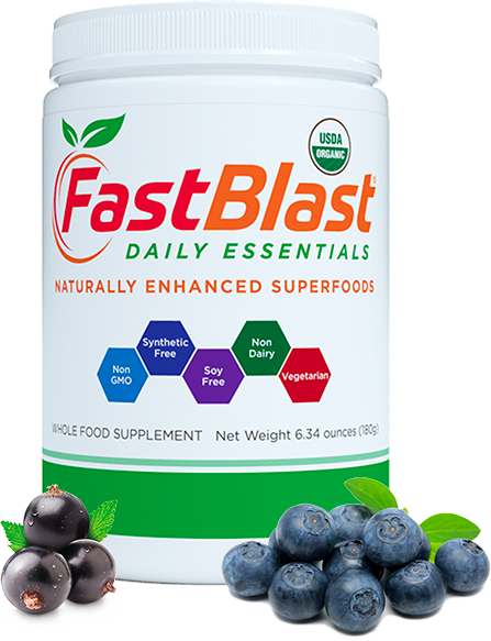 fastblast daily essentials contains a unique blend of fermented fruits and vegetables