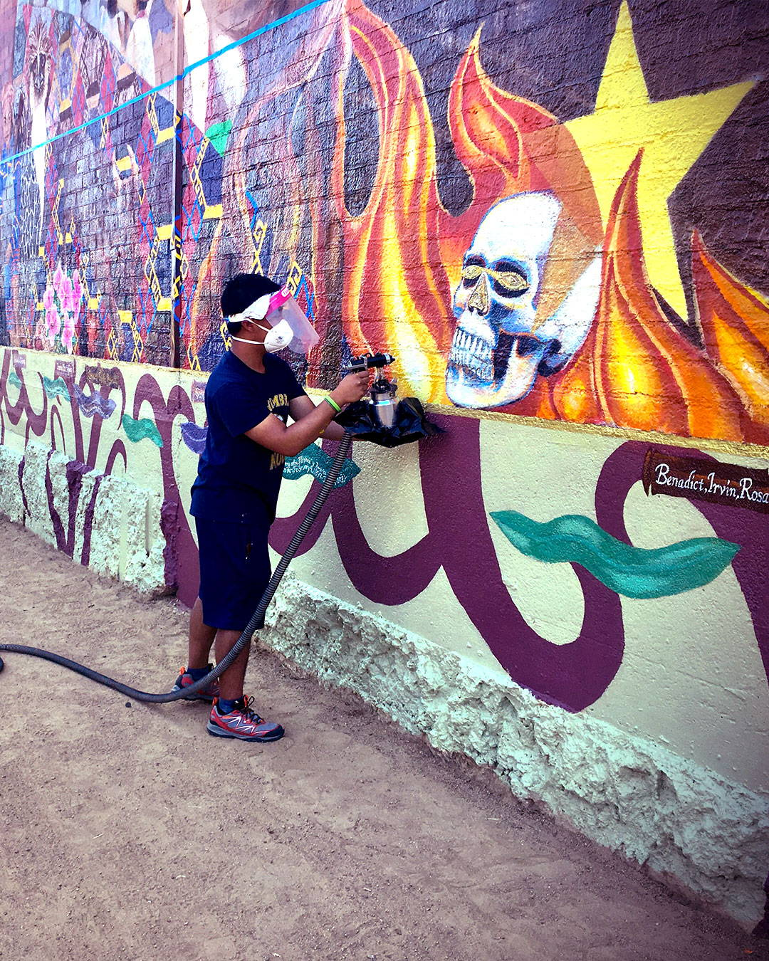 application of worlds best graffiti coating for protecting and preserving mural gintong kasaysayan