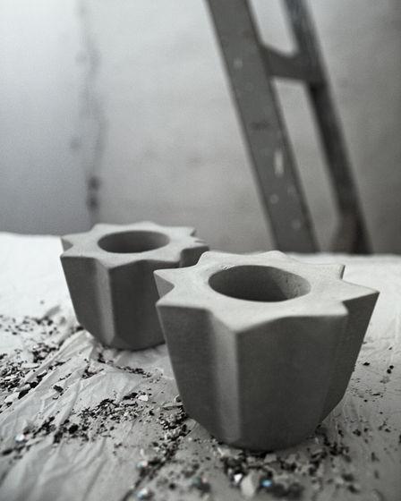 Подсвечник / вазочка Звезда из бетона | коллекция basic