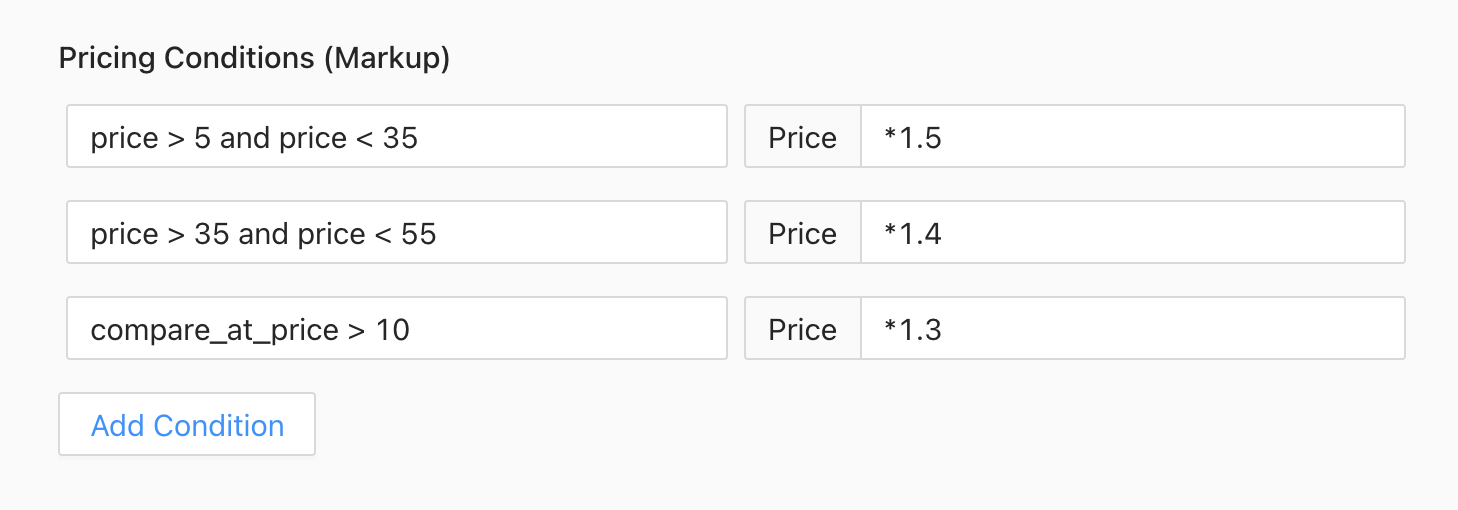 Price condition