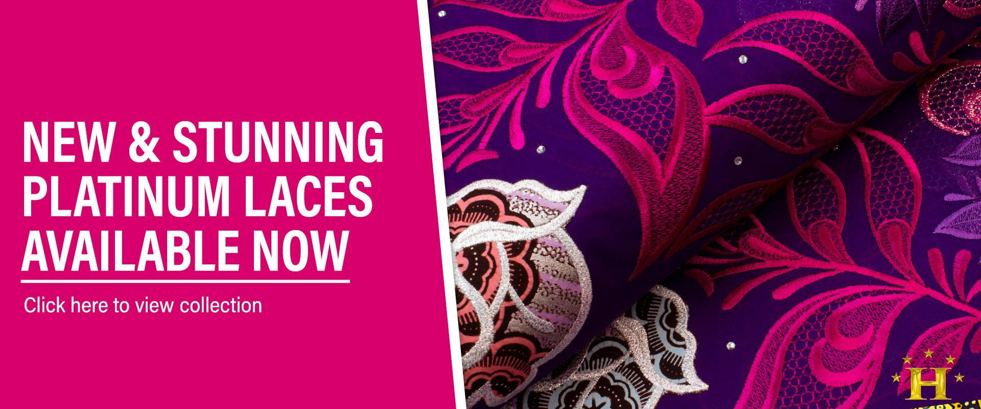 platinum swiss laces available now at hilton textiles