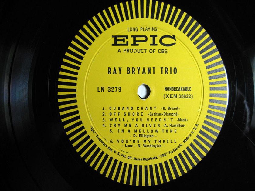 Ray Bryant Trio  -  Ray Bryant Trio  - 1956 Mono Epic LN 3279