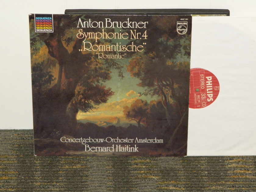 "Bernard Haitink/Concertgebouw Orchestra Amsterdam - Bruckner Symphony No. 4 ""Romantic"" Philips Import Pressing 6527 101 Holland"