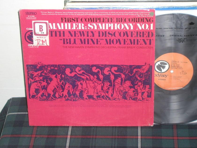 Brieff/NHSO - Mahler No. 1  Titan  LP Columbia/Odyssey 1st labels