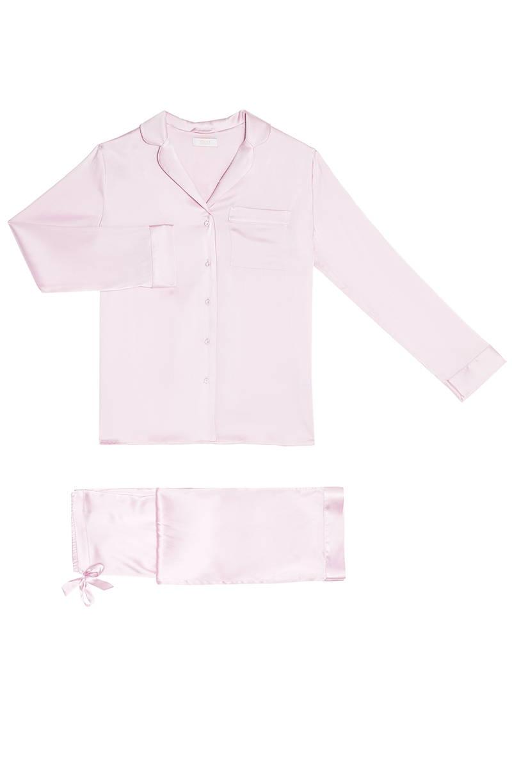 YOLKE Iris Classic Silk Pyjama Set