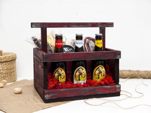 Деревянный ящик под пиво Red Beer