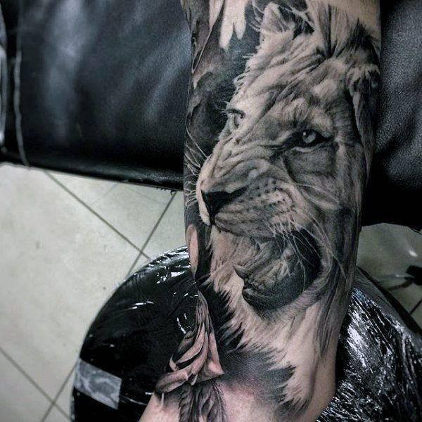 Tatouage Lion Biceps Imperméable