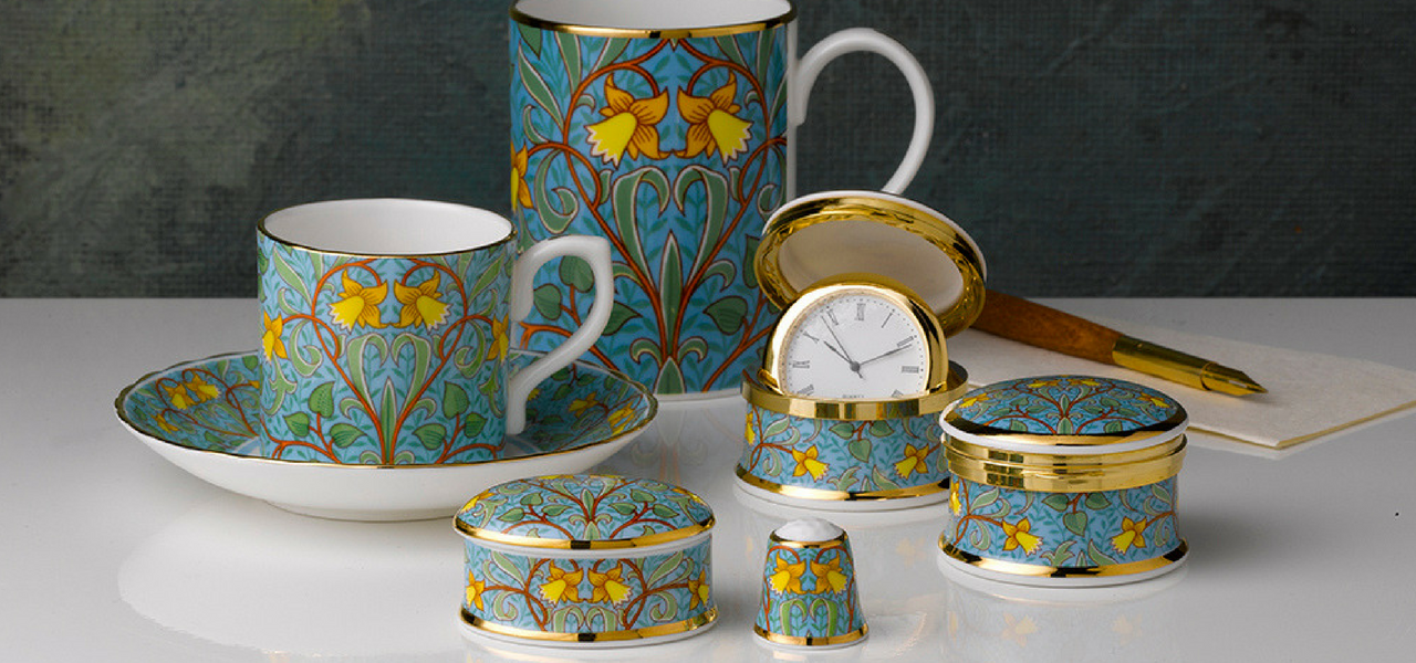 Image of the daffodil design by William Morris