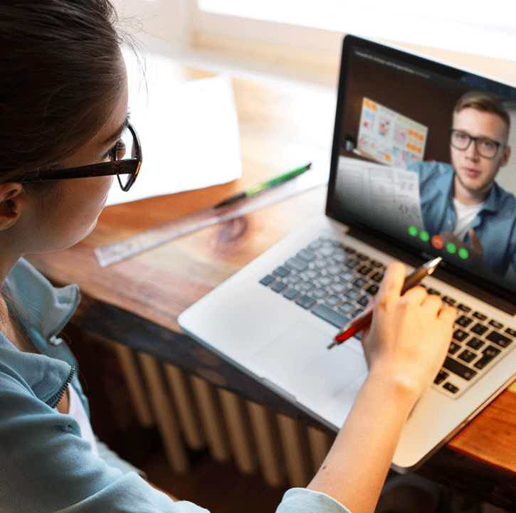 Find knowledge via video chat