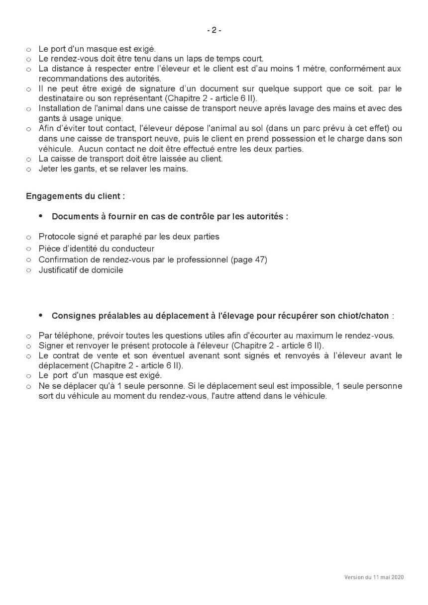 Protocole sanitaire page 2