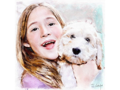Custom Dog or Kid Portrait by TerriJaye