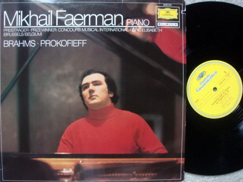 DG / MIKHAIL FAERMAN, - Brahms Variations on a Theme by Paganini, NM!