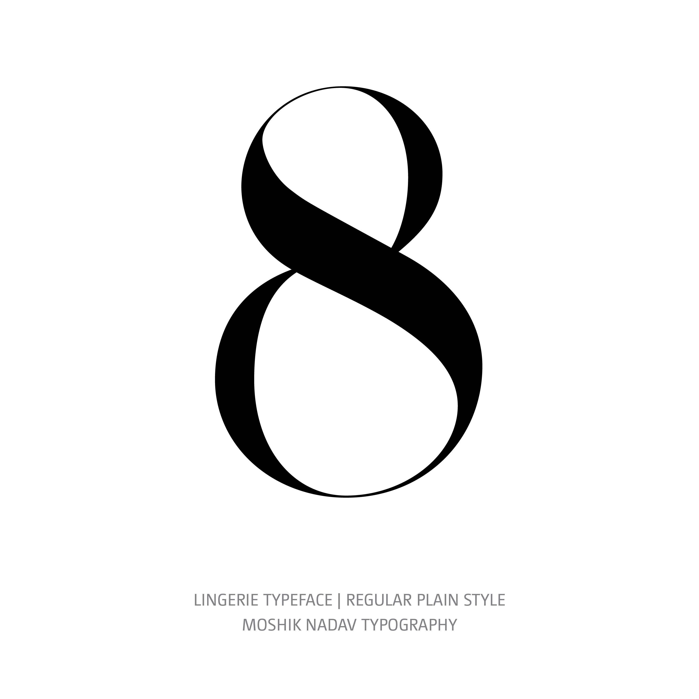 Lingerie Typeface Regular Plain 8