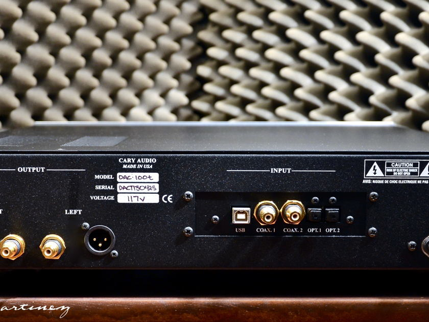 Cary Audio Design DAC-100t (tube) 24bit/192k USB DAC