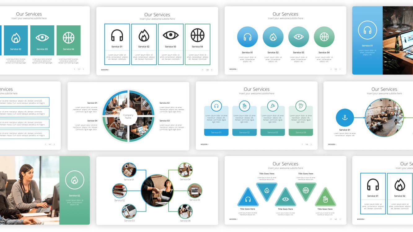 services presentation template, solution presentation template