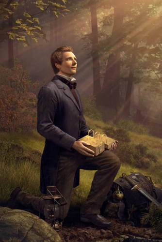 Painting of Joseph Smith retrieving the gold plates and other historical artifcts from the ground.